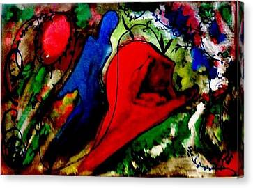 Celebration Of Life.. Be..5 Canvas Print by Rooma Mehra