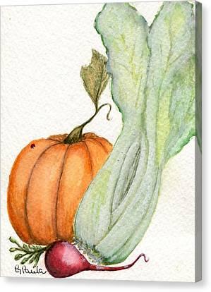 Celery Dish Canvas Print by Paula Greenlee