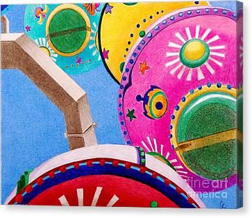 Celestial Ferris Wheel Canvas Print by Glenda Zuckerman