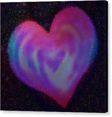 Celestial Heart Canvas Print by Gina Barkley