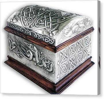 Celtic Chest 1 Canvas Print by Rodrigo Santos