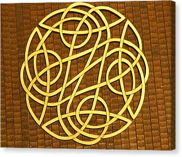 Celtic Knot Canvas Print by Keith Cichlar