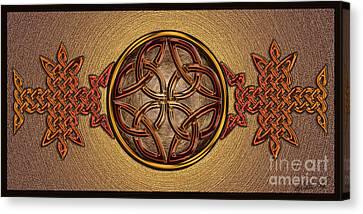 Celtic Knotwork Enamel Canvas Print