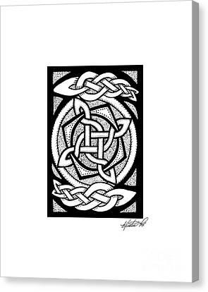 Celtic Knotwork Rotation Canvas Print