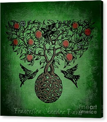 Celtic Tree Of Life Canvas Print by Sacred  Muse