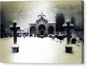 Thriller Canvas Print - Cemetery by Joana Kruse