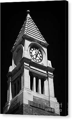 Cenotaph Clock Tower Niagara-on-the-lake Ontario Canada Canvas Print