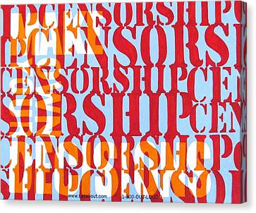 Censorship Canvas Print by Sabrina McGowens