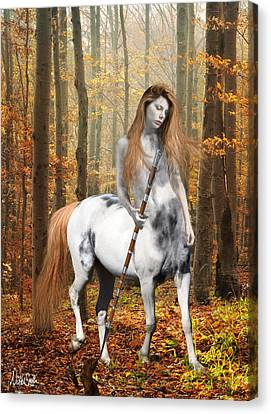 Centaur Series Autumn Walk Canvas Print by Nikki Marie Smith