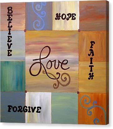 Center Love Canvas Print by Cynthia Amaral