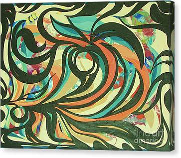 Centered Circle Canvas Print by Rachel Carmichael