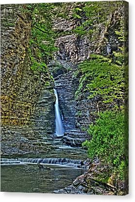 Central Cascade Of Watkins Glen Canvas Print by Joshua House