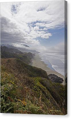 Canvas Print featuring the photograph Central Oregon Coast Vista by Mick Anderson