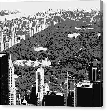 Central Park Bw3 Canvas Print by Scott Kelley