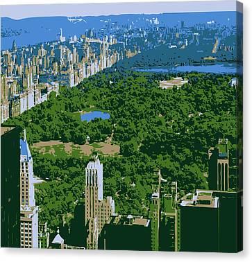 Central Park Color 6 Canvas Print by Scott Kelley