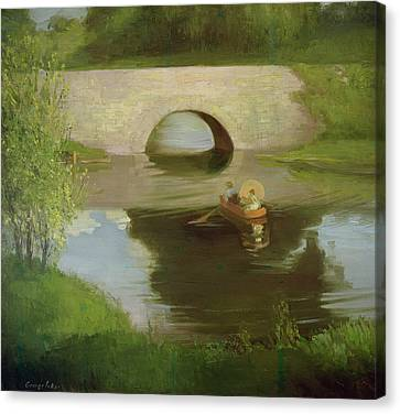 Central Park Canvas Print by George Luks