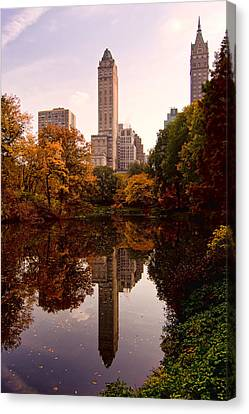 Canvas Print featuring the photograph Central Park by Michael Dorn