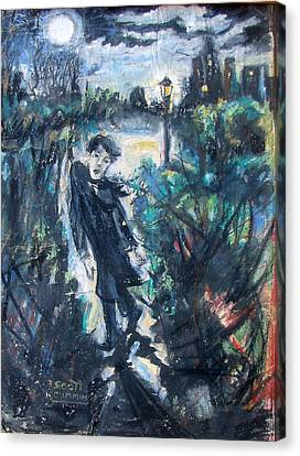 Central Park Nightwalk Canvas Print