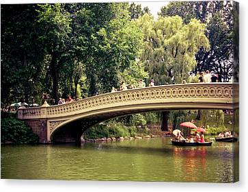 Central Park Romance - Bow Bridge - New York City Canvas Print by Vivienne Gucwa