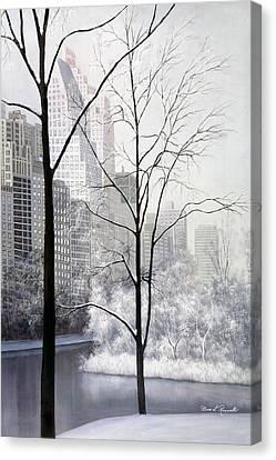 Central Park Vertical Canvas Print