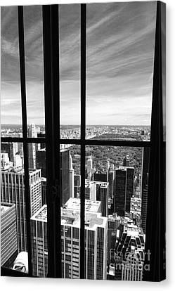 Central Park Window Canvas Print by Holger Ostwald