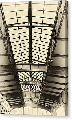 Central Railroad Of New Jersey  Canvas Print by Leslie Leda