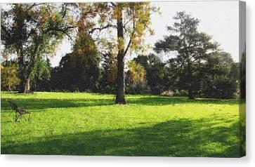 Central To The Garden Canvas Print by Douglas Barnard