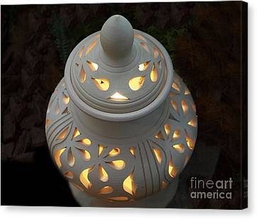 Ceramic Lantern Canvas Print by Yali Shi