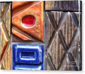 Burned Clay Canvas Print - Ceramic Tiles by Yali Shi