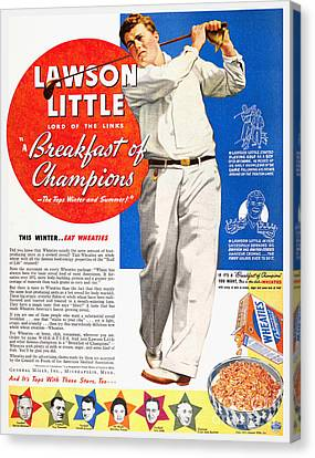 Cereal Advertisement, 1937 Canvas Print by Granger