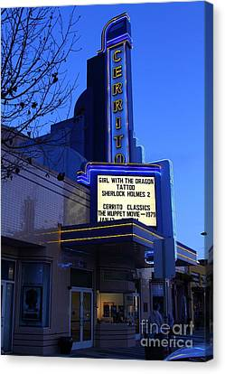 Cerrito Theater In El Cerrito California . 7d11035 Canvas Print by Wingsdomain Art and Photography