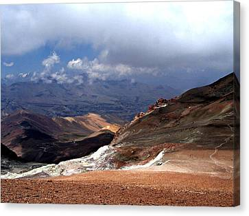 Cerro El Pintor Chile Canvas Print by Sandra Lira
