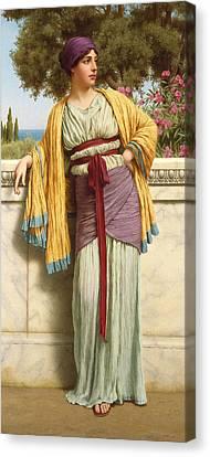 Cestilia Canvas Print by John William Godward