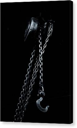 Canvas Print featuring the photograph Chain And Hook by Tom Singleton
