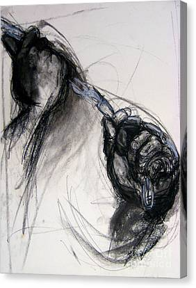 Canvas Print featuring the drawing Chain by Gabrielle Wilson-Sealy