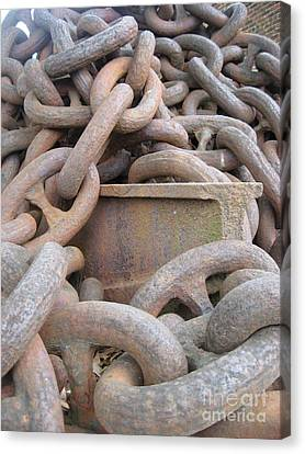 Chain Gang Canvas Print by Nancy Dole McGuigan