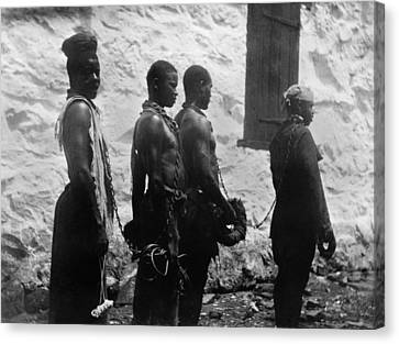 Chain Gang Of Convicts In Monrovia Canvas Print by Everett
