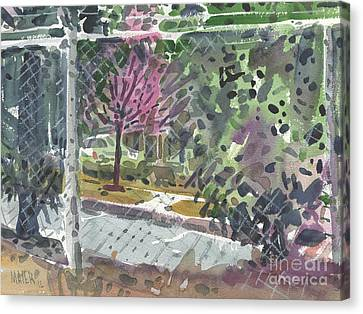 Chain Link Fence Canvas Print by Donald Maier