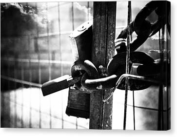 Chained Gate Canvas Print by Phill Petrovic
