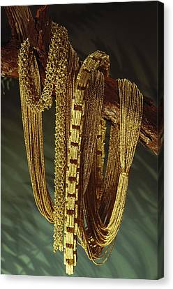 Chains From A Spanish Shipwreck Canvas Print by Sisse Brimberg