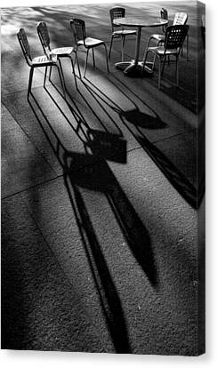 Chairs And Shadows Canvas Print by Steven Ainsworth