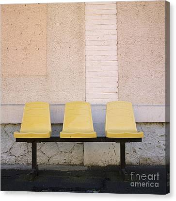 Chairs Canvas Print by Bernard Jaubert