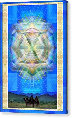 Chalice Star Over Three Kings Holiday Card Ix Canvas Print by Christopher Pringer