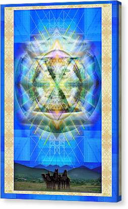 Chalice Star Over Three Kings Holiday Card Xbbrtii Canvas Print by Christopher Pringer