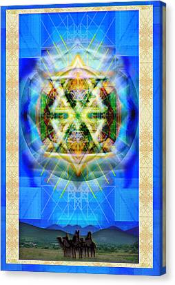 Chalice Star Over Three Kings Holiday Card Xbbrtiii Canvas Print by Christopher Pringer