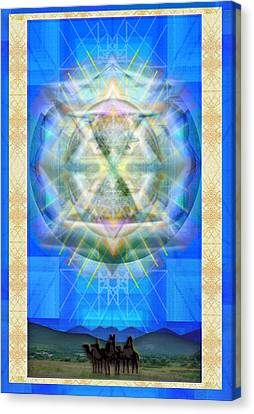 Chalice Star Over Three Kings Holiday Card Xci Canvas Print by Christopher Pringer