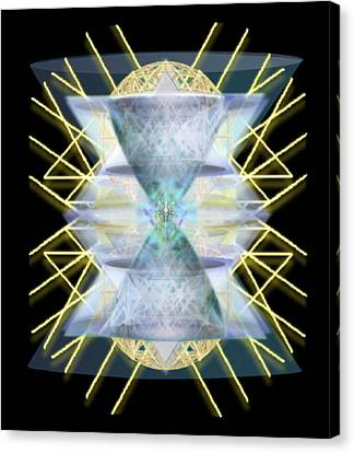 Canvas Print featuring the digital art Chalices From Pi Sphere Goldenray IIi by Christopher Pringer