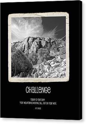 Challenge Canvas Print by Bonnie Bruno