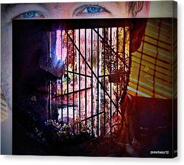 Challenge Enigmatic Imprison Himself Canvas Print by Paulo Zerbato