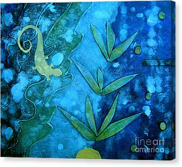 Nature Abstracts Canvas Print - Chameleon  by Ann Powell